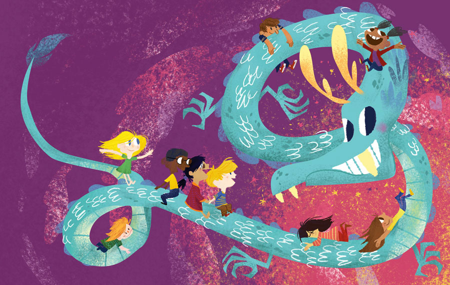 """Excerpt from """"The Dragons are Coming!"""" childrens book wriiten by Lotus Linton Howard."""